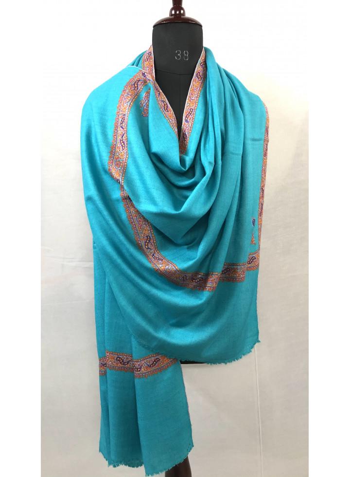 Bluebird Hashidar Sozni Embroidery Cashmere Pashmina Shawl
