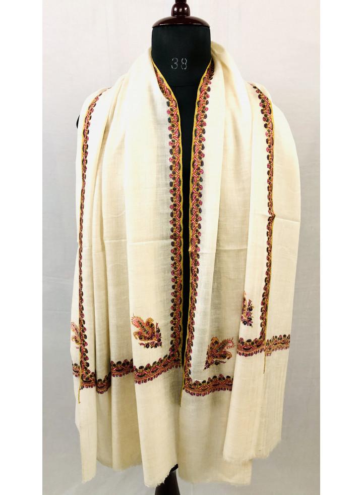 Tofu Sozni Embroidery Hashidar Cashmere Pashmina Shawl