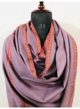 Grape Shake Hashidar Sozni Embroidery Cashmere Pashmina Shawl