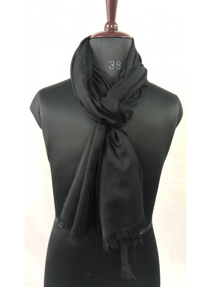Pirate Black Cashmere Pashmina Muffler