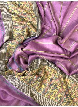 Spring Crocus Sozni Palla Embroidered Cashmere Pashmina Stole