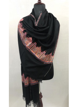 The Taj Handwoven And Hand Embroidered Genuine Cashmere Pashmina Stole