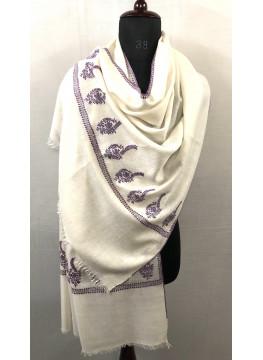 Shalimar Garden Vintage Floral Palla Hand Embroidered Cashmere Pashmina Stole