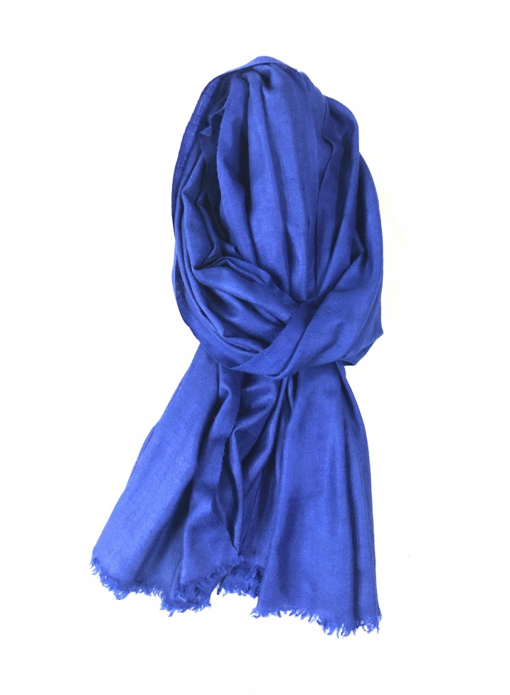 Dazzling Blue Cashmere Pashmina Muffler