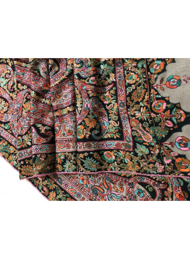 Motley Timeless Grand Jamawar Handwrought Cashmere Pashmina Shawl
