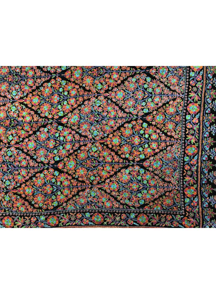 Timeless Papermachie Grand Jamawar Handwrought Real Cashmere Pashmina Shawl