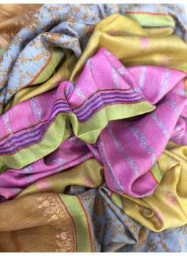 Four Seasons Sozni Embroidered Cashmere Pashmina Stole