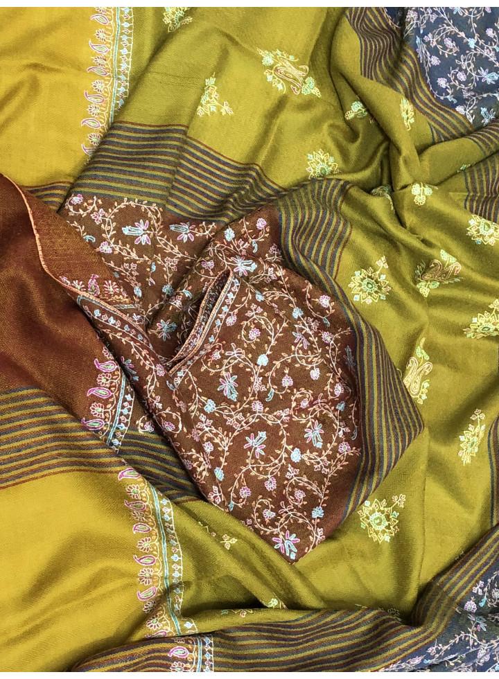 Firangi Sozni Embroidered Cashmere Pashmina Stole