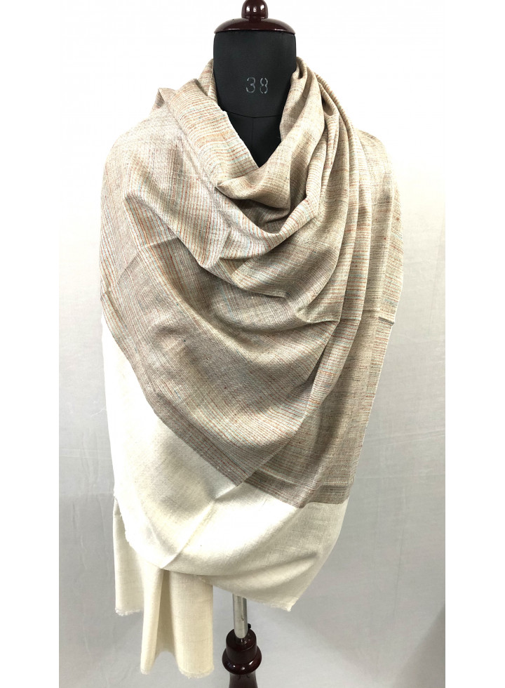 Prince Of Wales Stripes Genuine Cashmere Pashmina Shawl
