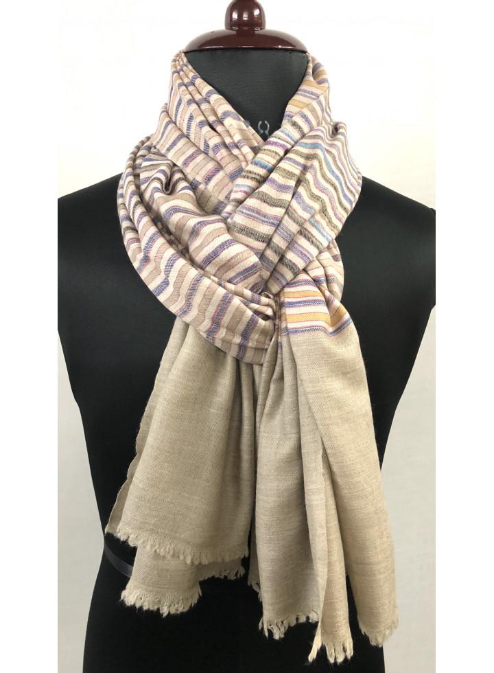 Tattersall Stripes Handmade Cashmere Pashmina Shawl