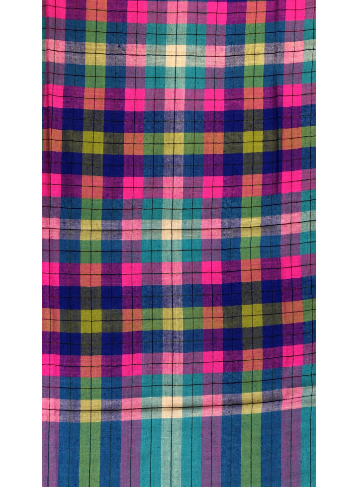 Multicolored Tartan Genuine Cashmere Pashmina Shawl