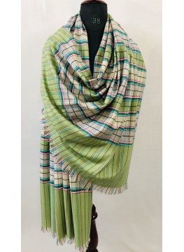 Dupplin Check Pattern Authentic Cashmere Pashmina Shawl
