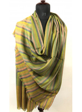Candy Stripes Handwoven Real Cashmere Pashmina Shawl