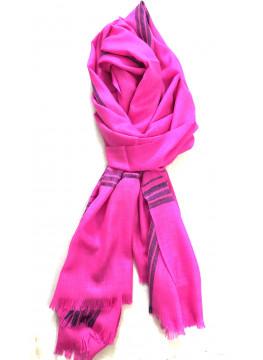 Pashmina Super Pink Blue Stripes Stole