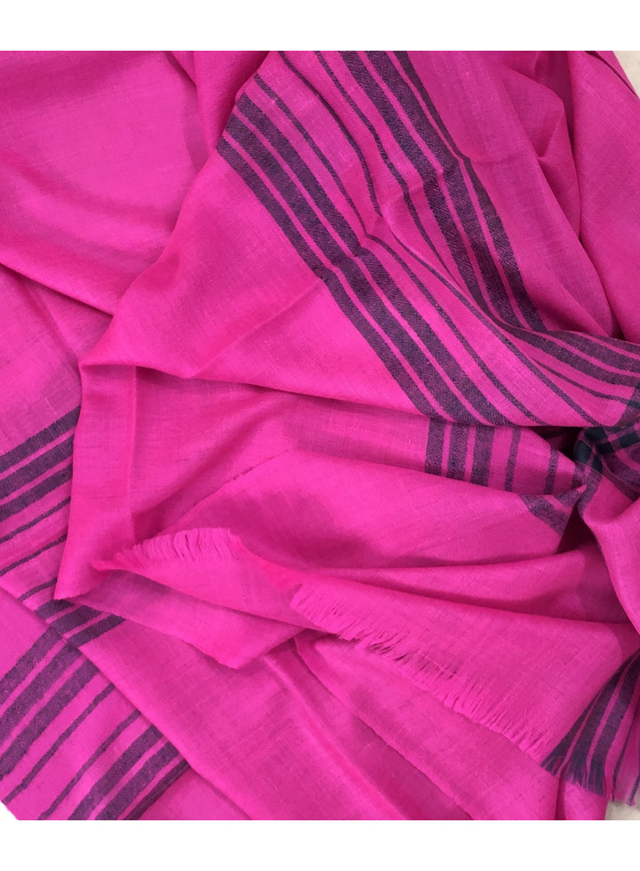 Pashmina Super Pink Blue Stripes Stole