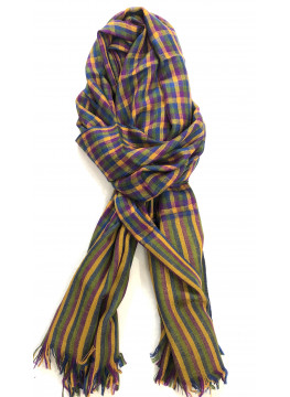 Green Shepherd's Check Real Cashmere Pashmina Stole