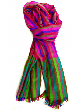 Candy Stripes Multicolor Cashmere Pashmina Stole