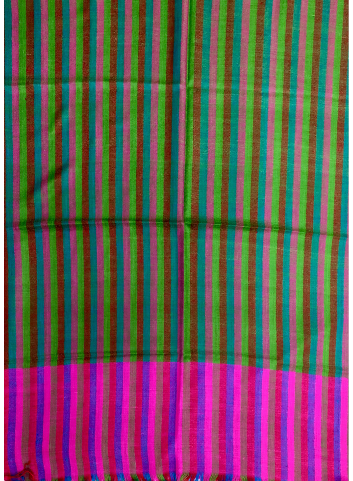 Shadow Stripes Multicolor Cashmere Pashmina Stole