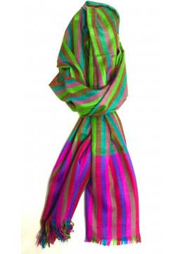 Shadow Stripes Multicolor Cashmere Pashmina Stole