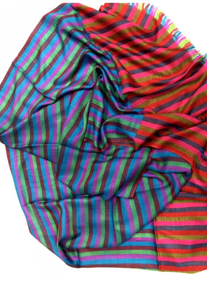 Pencil Stripes Real Cashmere Pashmina Stole