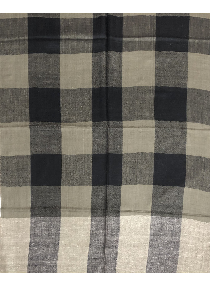 Luxury Check Genuine Cashmere Pashmina Stole