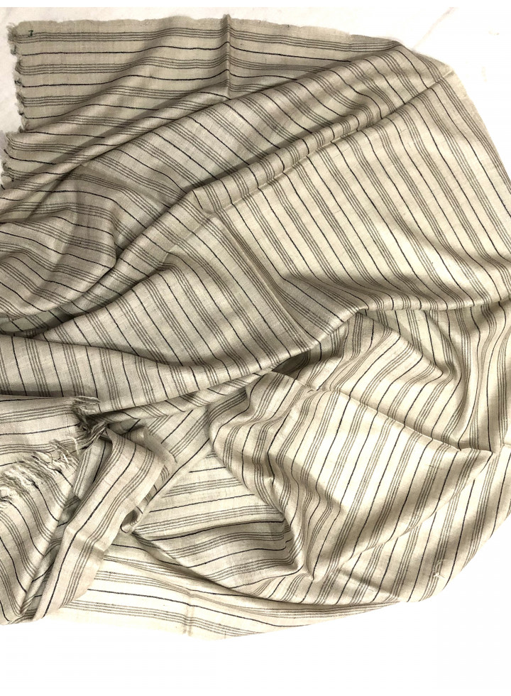 Muted Pencil Stripes Luxurious Cashmere Pashmina Stole
