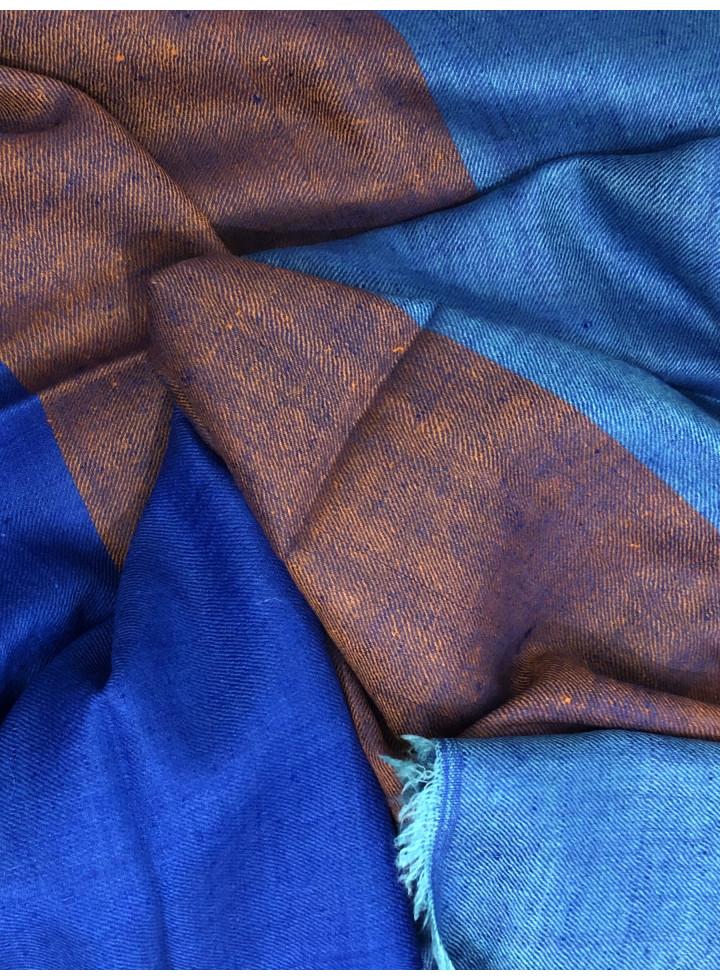 Divine Tricolor Handmade Real Cashmere Pashmina Stole