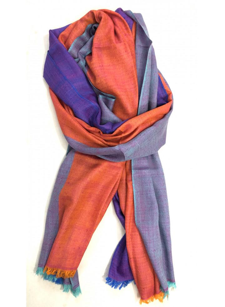 Elegant Three Shades Handmade Cashmere Pashmina Stole