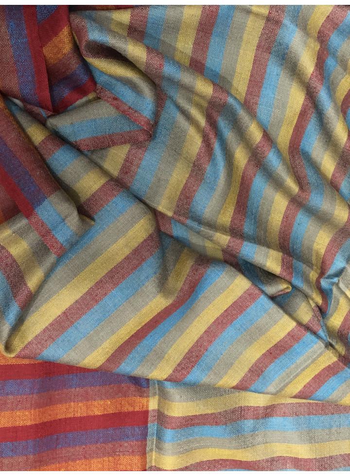 Multi Track Pencil Stripes Original Cashmere Pashmina Stole