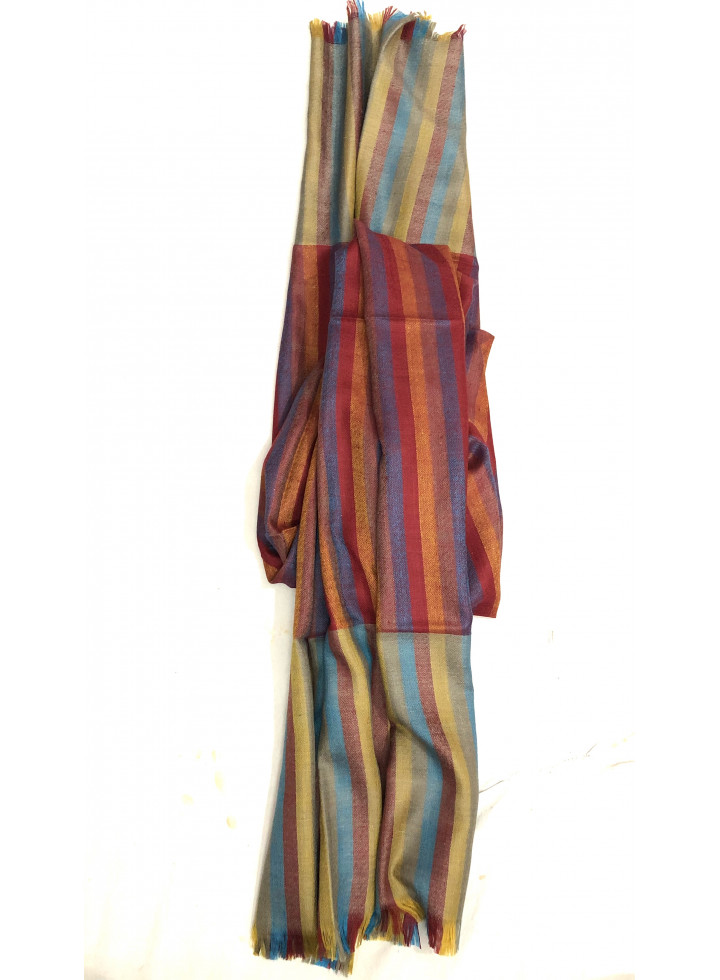 Smooth Multicolored Stripes Real cashmere Pashmina Stole