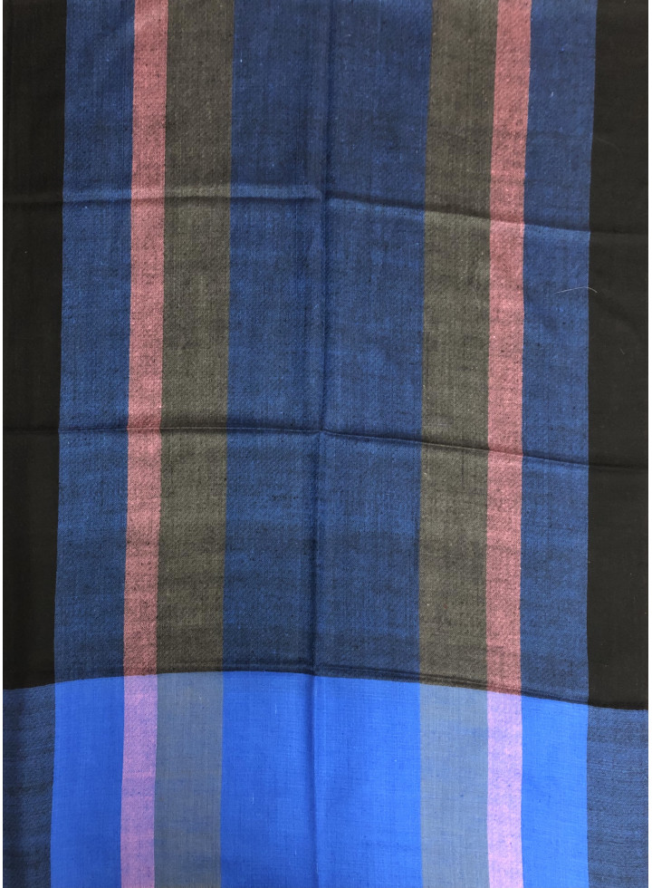 Bengal Multicolored Stripes Handwoven Cashmere Pashmina Stole