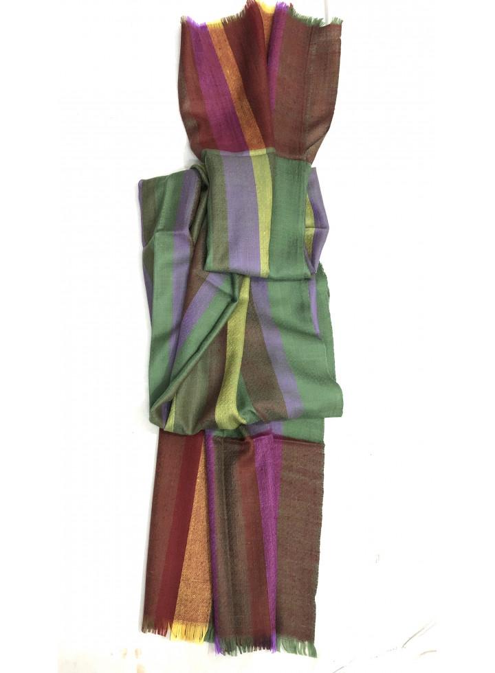 Cashmere Vertical Stripes Real Pashmina Stole