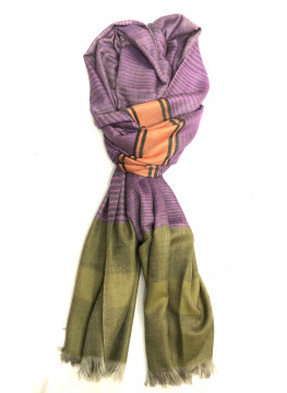 New Waves Cashmere Rose Handwoven Pashmina Stole
