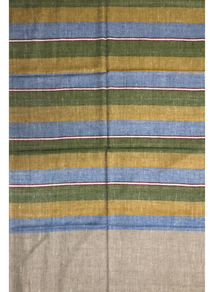 Whimsical Bayadere Stripes Handloom Cashmere Pashmina Stole
