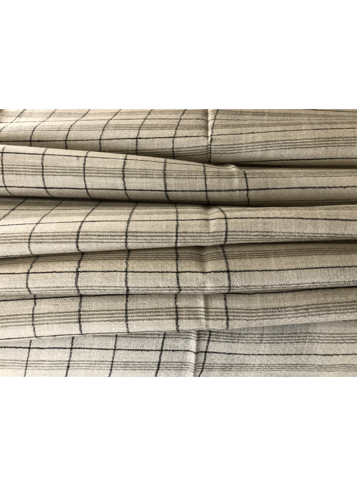 Graph Check Muted Stripes Handmade Pure Cashmere Pashmina Stole
