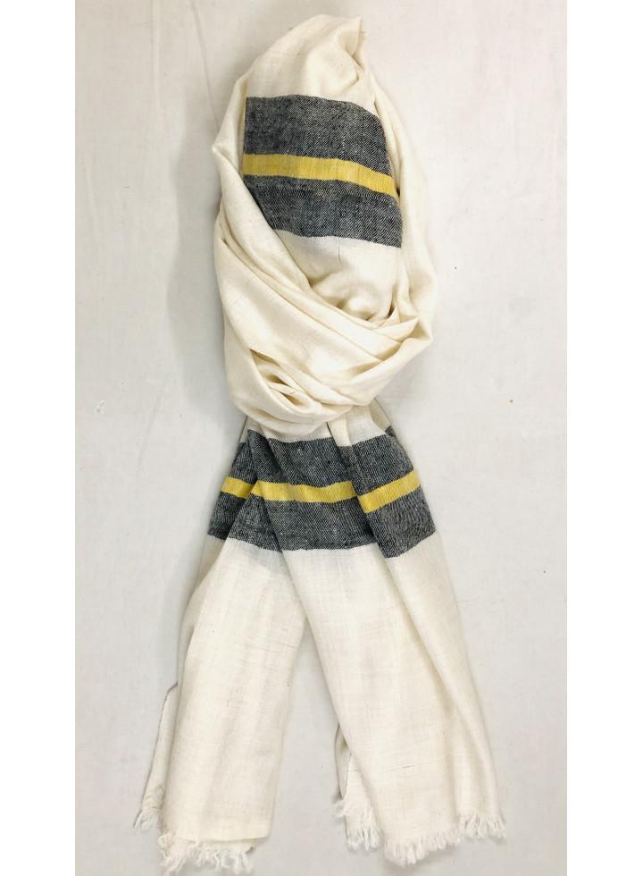 Handwoven Breton Stripes Palla Pure Cashmere Pashmina Stole