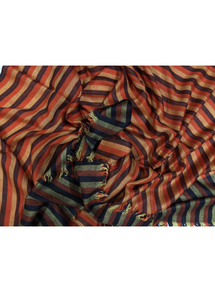 Bengal Stripes Handwoven Real Cashmere Pashmina Stole