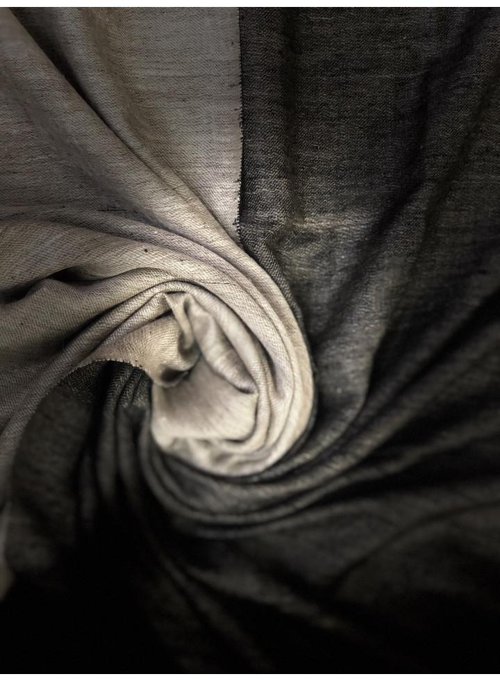 Black And White Reversible Cashmere Pashmina Shawl