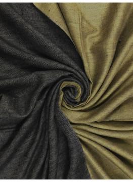 Harvest Gold And Raven Black Reversible Cashmere pashmina Shawl