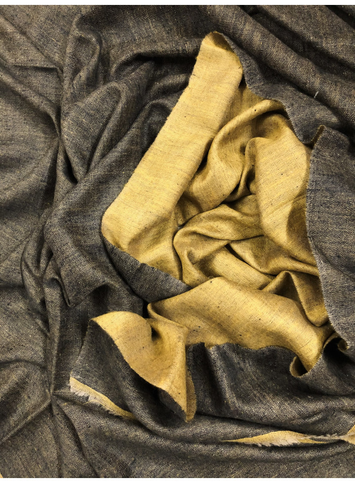 Harvest Gold And Raven Black Reversible Cashmere pashmina Shawl