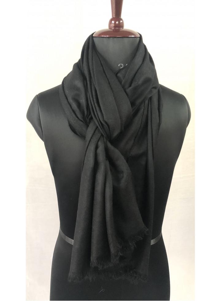 Black Handmade Real Cashmere Pashmina Shawl