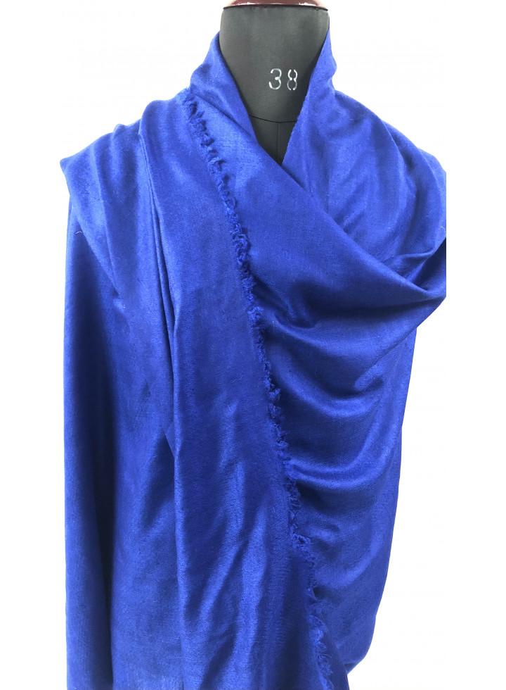 Amparo Blue Handloom Cashmere Pashmina Shawl