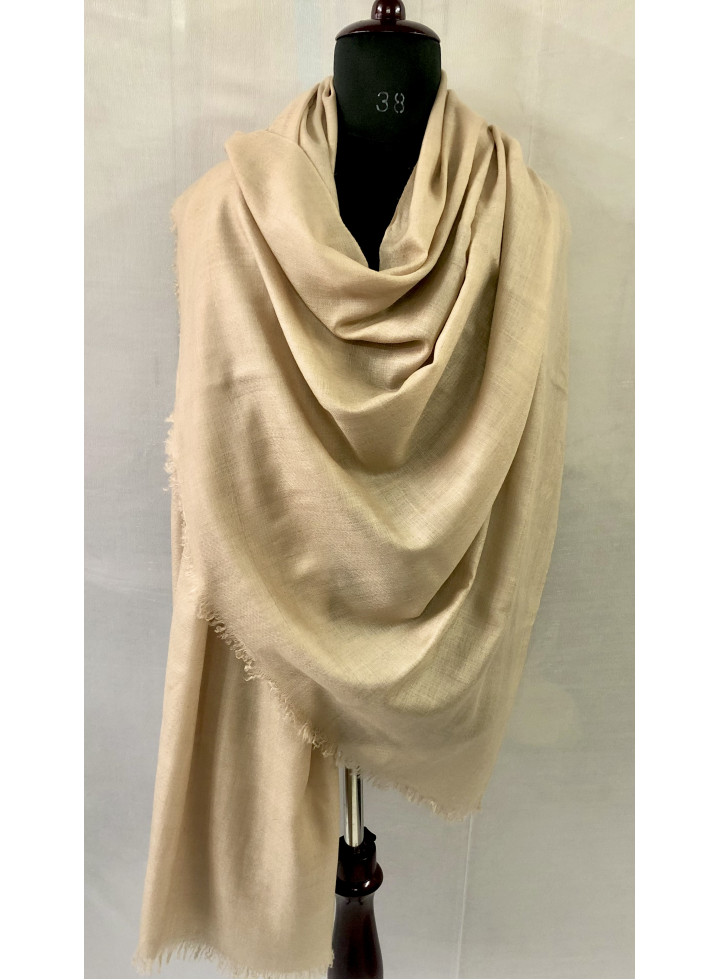 White Smoke Handwoven Real Cashmere Pashmina Shawl