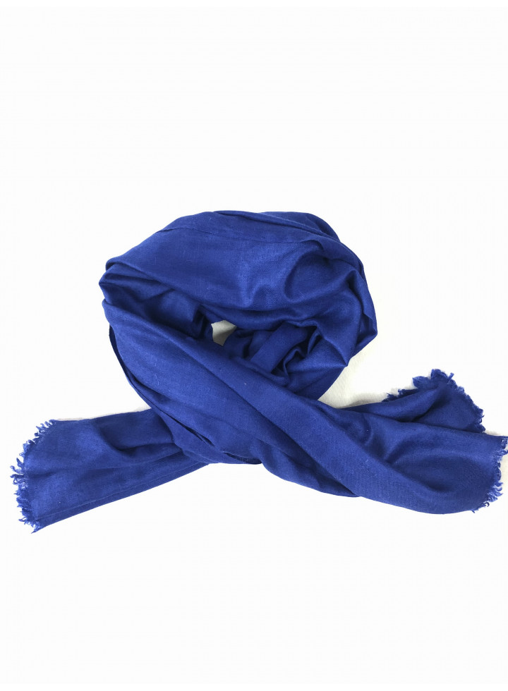 Dazzling Blue Genuine Cashmere Pashmina Stole