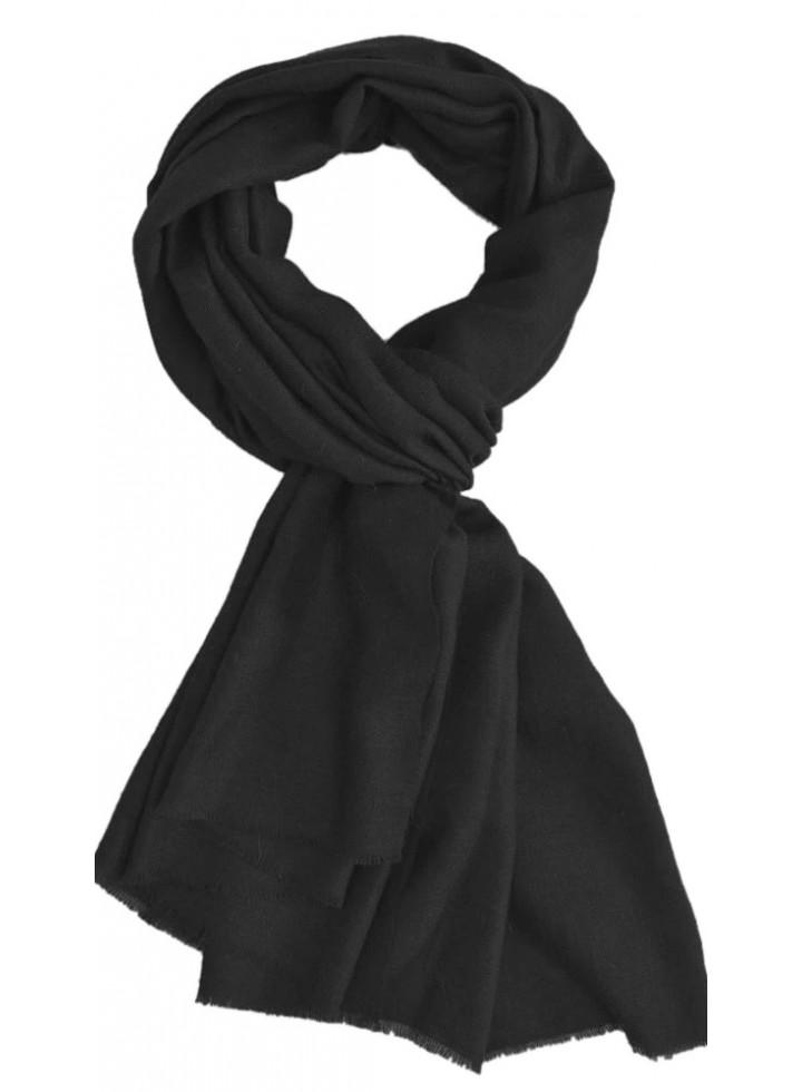 Black Praiseworthy Handwoven Cashmere Pashmina Stole