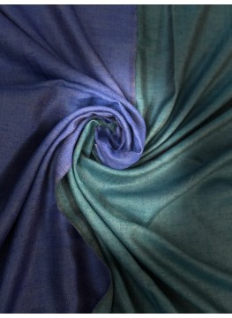 Blue Mirrors Reversible Pashmina Shawl