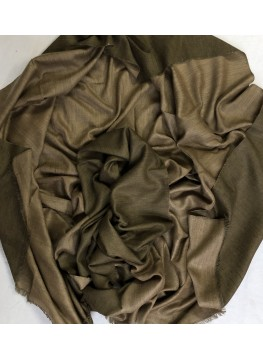 Olive And Almond Reversible Pashmina Shawl