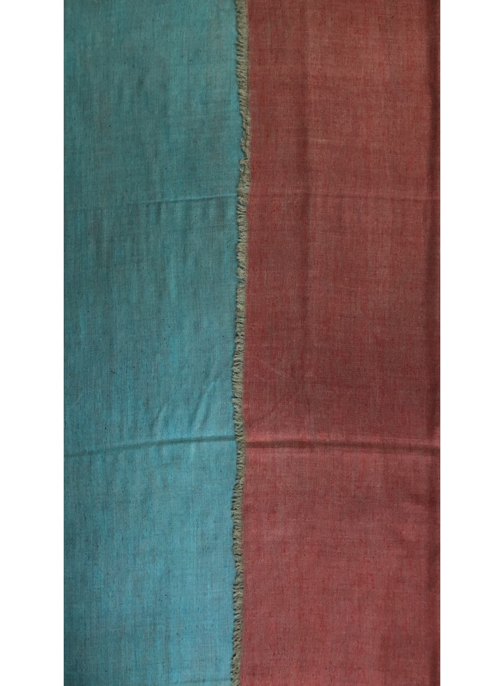 Red And Blue Reversible Pashmina Shawl