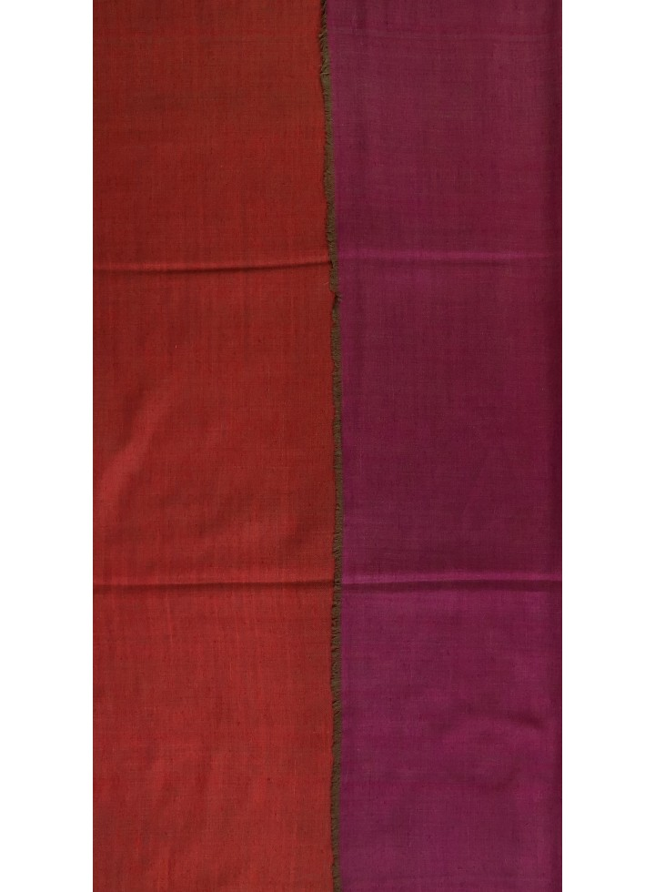 Red And Fuchsia Reversible Pashmina Shawl