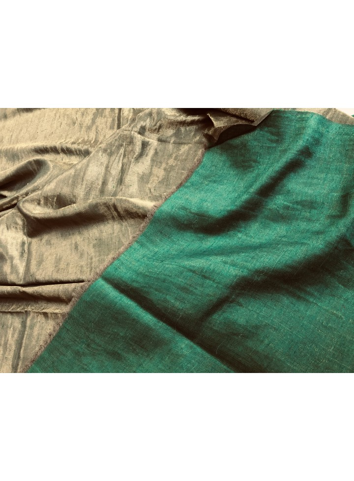 Shimmery Verdant Green Golden Metallic Pashmina Shawl